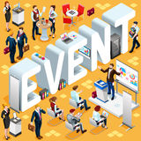 Isometric People Event Icon 3D Set Vector Illustration Royalty Free Stock Photo