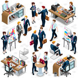 Isometric People Hand Shake Icon 3D Set Vector Illustration Royalty Free Stock Photos