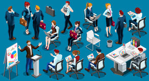 Isometric People Informal Meeting Icon 3D Set Vector Illustratio Royalty Free Stock Photography