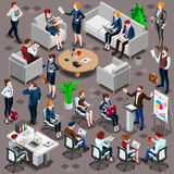 Isometric People Meeting Icon 3D Set Vector Illustration Stock Image