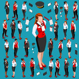 Isometric People Meeting Icon Set Collection Vector Illustration Royalty Free Stock Image