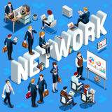 Isometric People Network Icon 3D Set Vector Illustration Royalty Free Stock Images