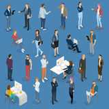 Isometric people in office Stock Photos
