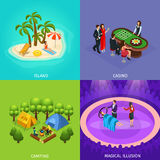Isometric People Recreation Concept Royalty Free Stock Image