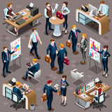 Isometric People Sale Bank Desk Icon 3D Set Vector Illustration Royalty Free Stock Photo