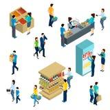 Isometric People Shopping Stock Image