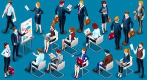 Isometric People Staff Analysis Icon 3D Set Vector Illustration Stock Photo