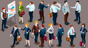 Isometric People Staff Deal Icon 3D Set Vector Illustration Royalty Free Stock Photo