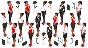 Isometric People Staff Icon Set Collection Vector Illustration Royalty Free Stock Photos