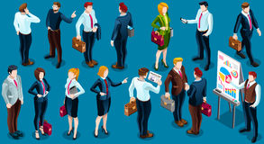 Isometric People Standing Staff 3D Icon Set Vector Illustration Royalty Free Stock Photo
