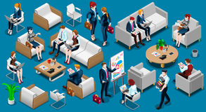 Isometric People Team Work 3D Icon Set Vector Illustration Royalty Free Stock Image
