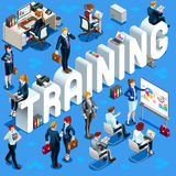 Isometric People Training Icon 3D Set Vector Illustration Royalty Free Stock Photography