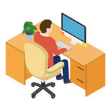 Isometric people at the workplace Royalty Free Stock Photography