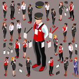 Isometric Person 3D Icon Set Collection Vector Illustration Royalty Free Stock Photography