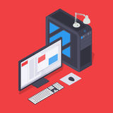 Isometric personal computer Royalty Free Stock Image