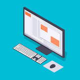 Isometric personal computer Royalty Free Stock Photos