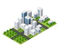 Isometric perspective city Stock Photos