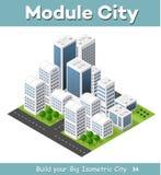 Isometric perspective city Stock Image