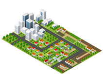 Isometric perspective city Royalty Free Stock Photography