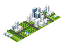 Isometric perspective city Stock Images