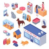 Isometric Pet Shop Set Royalty Free Stock Photo
