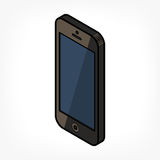 Isometric phone icon Royalty Free Stock Images