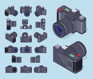 Isometric photo cameras Royalty Free Stock Photography