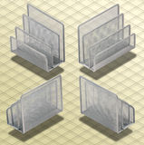 Isometric Photograph - Set of Desk Organizers Isoa Stock Photography