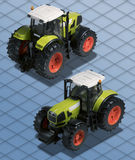 Isometric Photograph Tractor clipping path Royalty Free Stock Photo
