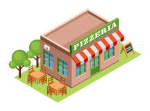 Isometric pizzeria. Royalty Free Stock Image
