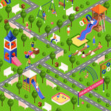 Isometric playground illustration Stock Images
