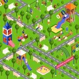 Isometric playground illustration Stock Images