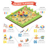 Isometric Playground Infographic Concept Royalty Free Stock Photo