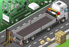 Isometric Podnosi Up ciężarówkę w Tylni widoku Obrazy Stock