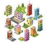 Isometric pojęcie budynki Obrazy Stock