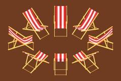 Isometric pokładu krzesło Fotografia Royalty Free