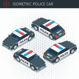 Isometric police car. 3d  transport icon. Highly detailed  illustration Royalty Free Stock Photos