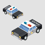 Isometric police car Stock Images