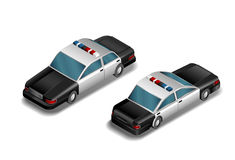 Isometric police car- vector Royalty Free Stock Image