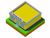 Isometric police department building Vector Royalty Free Stock Image