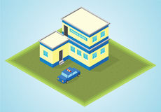 Isometric police office Stock Photography