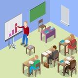 Isometric presentation training concept Stock Photo