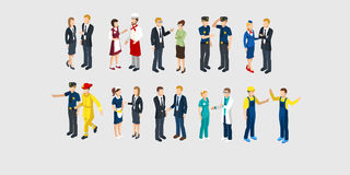 Isometric Profession Characters Set Stock Images