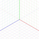Isometric projection background Royalty Free Stock Image