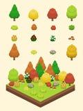 Isometric Proste rośliny Ustawiać - jesieni rośliny Zdjęcie Royalty Free