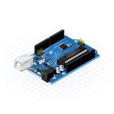 Isometric Przerzedże Deskowych Microcontrollers Obrazy Stock