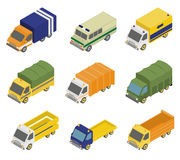 Isometric Public City Transport Royalty Free Stock Images