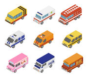 Isometric Public City Transport Stock Photos