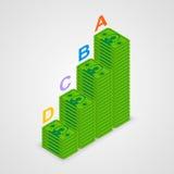 Isometric pyramid money Royalty Free Stock Photography