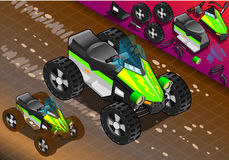 Isometric Quad Bike in Front View Stock Image